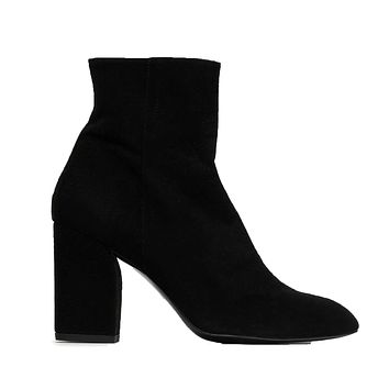 Rose Suede High Heeled Ankle Boot