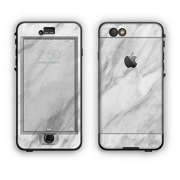 The White Marble Surface Apple iPhone 6 Plus LifeProof Nuud Case Skin Set