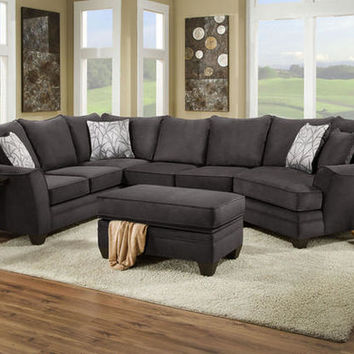 Casa Gray 3 Pc Sectional Sectionals From Theroomplace Com