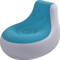 By PoolCentral 36.5 inch  White and Blue Inflatable Indoor/Outdoor  inch Easigo inch  Side Chair