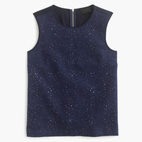 J.Crew Womens Collection Donegal Wool And Crystal Stone Sleeveless Shell
