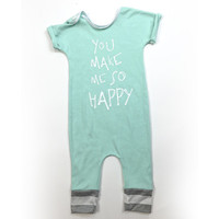 Happy Mint Romper from Henry + Claire