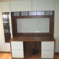 Custom Desk With Extra Home Office Storage | Contempo Space