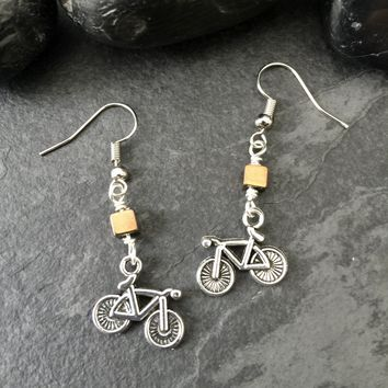 Silver Bicycle Earrings / Bike Earrings, Bicycle Jewelry, Bike Jewelry, Bicycle Gifts, Women's Bicycle, Biker, Cyclist Jewelry, Bicycle Art