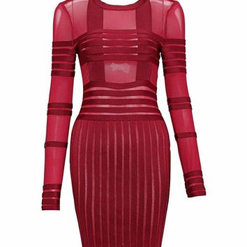 Juxa Bandage Dress Red