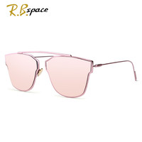 RBspace New Women 5 Colour Luxury Cat Eye Sunglasses Women Sunglasses oculos Double-Deck Alloy Frame UV400 cool Glasses woman