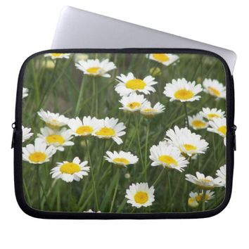 Daisy Patch Floral Laptop Computer Sleeves