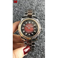 Rolex Newest Popular Woman Men Chic Diamond Quartz Movement Watch Wristwatch