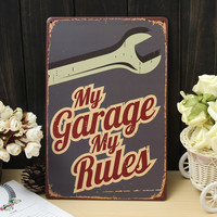 My Garage Tin Sign Vintage Metal Plaque Poster Bar Pub Home Wall Decor