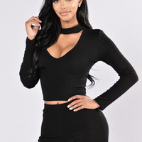 Permanent Vacation Top - Black