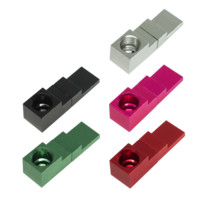 Foldable Magnetic Block Metal Smoking Pipe - 2 inches - Assorted Colors