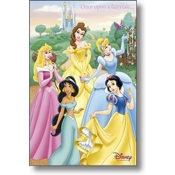 DISNEY PRINCESS POSTER Once Upon a Fairy Tale HOT NEW 2