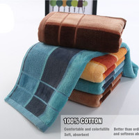 Towels 100% Cotton Hand Face Bath Towels for Adults Gift Towels Set Bathroom Use Home Textile toallas