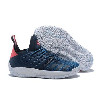 Adidas Harden Vol. 2 Navy/pink Basketball Shoes Us7 11.5