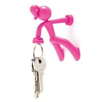 Key Petite - Key Pete Girl Strong Magnetic Key Holder Hook Rack Magnet - Pink: Home & Kitchen