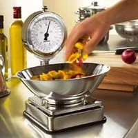 Salter 108 High Dial Kitchen Scale in Classic Chrome and Stainless Steel - Grocer-Style dial