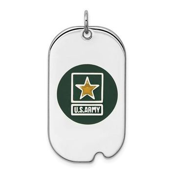 Sterling Silver US Army Tag