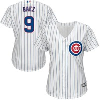Women's Chicago Cubs Javier Baez Majestic White Cool Base Player Jersey