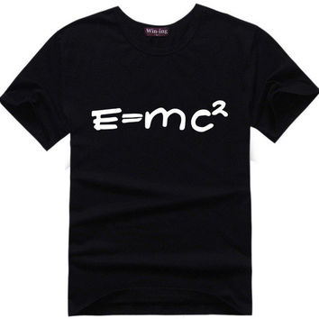 Albert Einstein E=MC2 Big Bang Theory Sheldon Cooper Super Hero Tee t-shirt