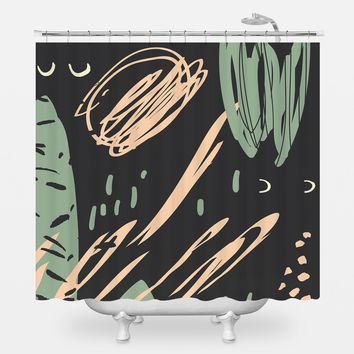 Information of Peace Shower Curtain