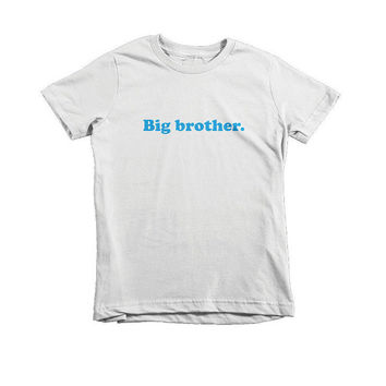 Big Brother Infant Jersey Short Sleeve T-Shirt - American Apparel - White - Infant T-Shirt, T-Shirt, Kids, Typography, New Baby Gift
