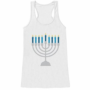 7 at 9 Apparel Women's Menorah Hanukkah Tank Top