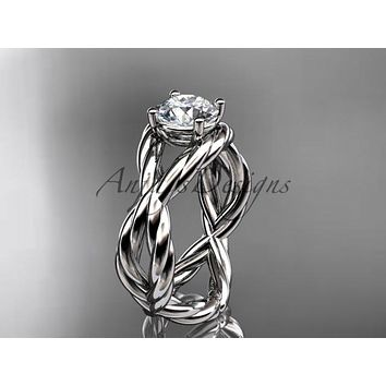 Platinum twisted rope engagement ring RP8181