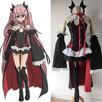 Online Shop Anime Seraph Of The End Owari no Seraph Krul Tepes Uniform Cosplay Costume Full Set Dress Outfit Size S-XL | Aliexpress Mobile