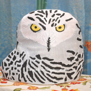 Owl Tea Cozy/Owl Teapot Cosy/Owl Coffee Pot Cozy/tea cosy with google eye/owl teapot cover/owl teapot beanie/Snowy Owl Tea CosyBird Tea Cosy