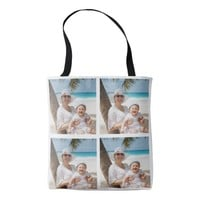 Custom Photo Collage Tote Bag for Mother