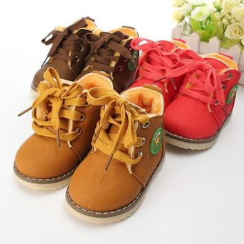 new baby girls boys kids martin snow boots children cotton oxfords shoes winter 1930  number 1