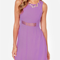 Mesh Sleeveless Cut-Out Chiffon Dress