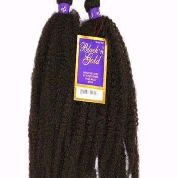 Black&Gold Rastafarian Dread Synthetic Braiding Hair