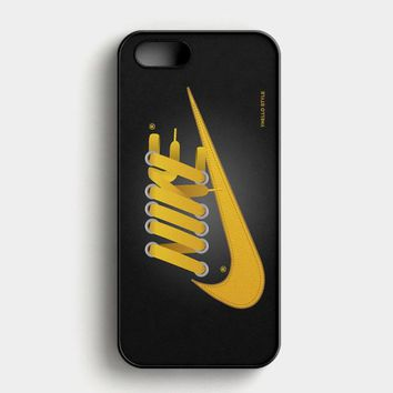 Nike Just Do It Yellow iPhone SE Case