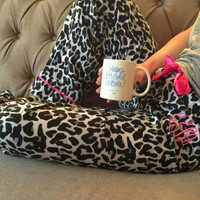 Monogrammed  Pajama pants. Great Bridal parties. New colors available