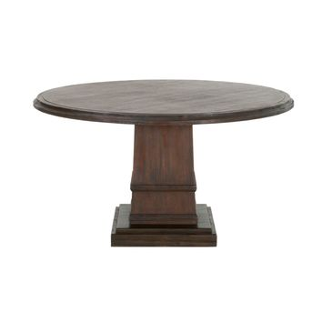 "Hudson 54"" Round Dining Table Rustic Java"