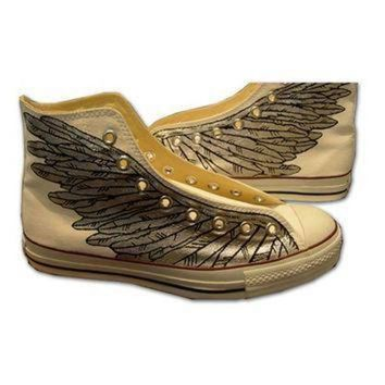 DCCK1IN hand painted converse sneakers wings