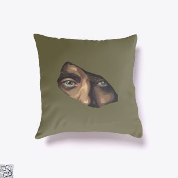 Indian Eyes, Aathira Mohan Throw Pillow Cover