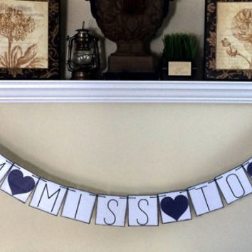 From Miss to Mrs Banner, Bridal Shower Decorations, Bridal Shower Signs, Baccalaureate Party