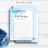 Blue Baby Shower Advice Cards, Watercolor, Baby Boy, Printable Baby, Parents to be, Advice for Mommy, Advice Cards, Mum-to-be, Parent Advice