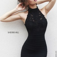 Sherri Hill 32048 Halter Bandage Prom Dress