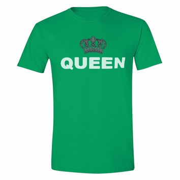 XtraFly Apparel Men's Queen Silver Crown Matching Couples Crewneck Short Sleeve T-shirt
