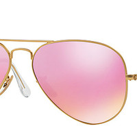 Ray-Ban RB3025 112/1Q 58-14 AVIATOR FLASH LENSES Gold sunglasses | Official Online Store US