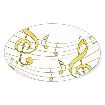 Musical Oval Sticker