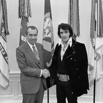 Nixon and Elvis Portrait Poster 11x17