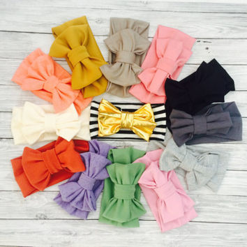CHOOSE TWO Baby Headbands, Baby Bows, Baby Headband Bow, Baby Girl Headband, Baby Girl Bows, Newborn Headband, Baby Girl, Baby Headwrap