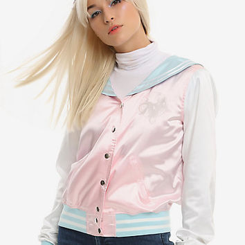 Sailor Moon Transformation Brooch Girls Satin Souvenir Jacket