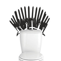 Game of thrones, iron throne toilet decal wall sticker, mural.