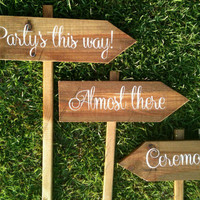 Custom Shabby Chic Personalized Wedding Signs