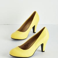 Minimal In a Classic of Its Own Heel in Yellow